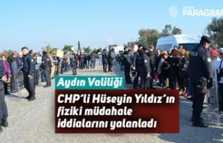 Aydın Valiliği, CHP'li Hüseyin Yıldız'ın...