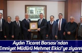 Aydın Ticaret Borsası'ndan Emniyet Müdürü Mehmet...