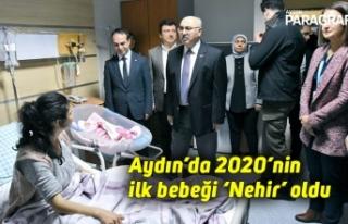 Aydın'da 2020'nin ilk bebeği 'Nehir' oldu