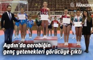 Aydın'da aerobiğin genç yetenekleri görücüye...