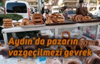 Aydın'da pazarın vazgeçilmezi gevrek