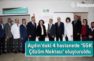 Aydın'daki 4 hastanede 'SGK Çözüm Noktası'...