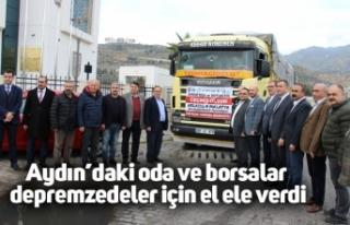 Aydın'daki oda ve borsalar depremzedeler için...