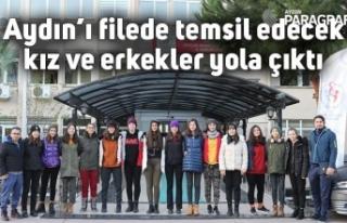 Aydın'ı filede temsil edecek kız ve erkekler...