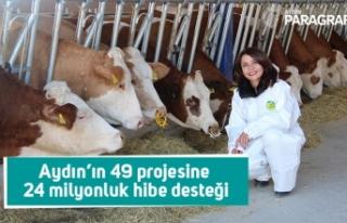 Aydın'ın 49 kırsal kalkınma projesine 24 milyonluk...