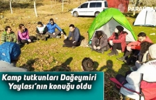 Aydınlı kamp tutkunları Dağeymiri Yaylası'nın...