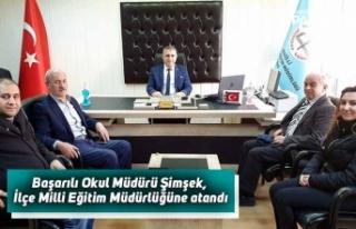 Başarılı Okul Müdürü Şimşek, İlçe Milli...