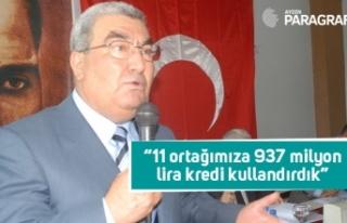 """Başkan Necip Saraç; """"11 ortağımıza 937 milyon..."""