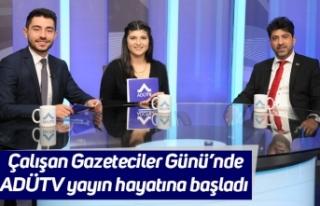 Çalışan Gazeteciler Günü'nde ADÜTV yayın...