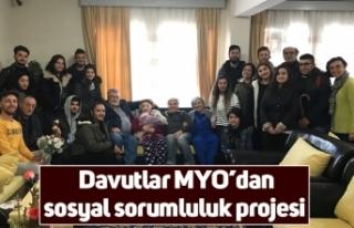 Davutlar MYO'dan sosyal sorumluluk projesi