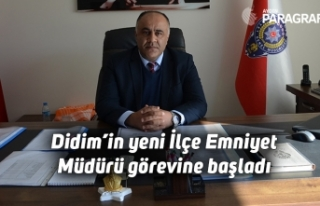 Didim'in yeni İlçe Emniyet Müdürü görevine...