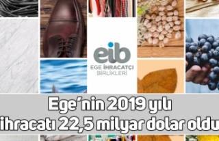 Ege'nin 2019 yılı ihracatı 22,5 milyar dolar...