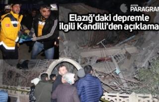 Elazığ'daki depremle ilgili Kandilli'den...