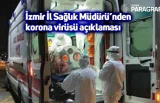 İzmir İl Sağlık Müdürü'nden korona virüsü...