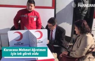 Karacasu Mehmet öğretmen için tek yürek oldu