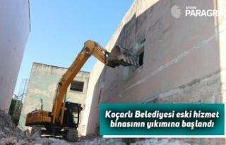 Koçarlı Belediyesi eski hizmet binasının yıkımına...