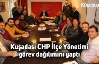 Kuşadası CHP İlçe Yönetimi görev dağılımını...