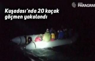 Kuşadası'nda 20 kaçak göçmen yakalandı