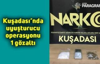 Kuşadası'nda uyuşturucu operasyonu :1 gözaltı