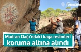 Madran Dağı'ndaki kaya resimleri koruma altına...