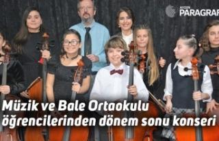 Müzik ve Bale Ortaokulu öğrencilerinden dönem...