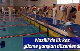 Nazilli'de ilk kez yüzme yarışları düzenlendi