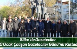 Söke'de Gazeteciler 10 Ocak Çalışan Gazeteciler...