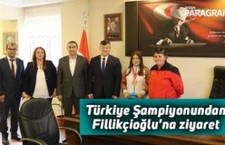 Türkiye Şampiyonundan Fillikçioğlu'na ziyaret