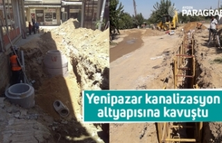 Yenipazar kanalizasyon altyapısına kavuştu