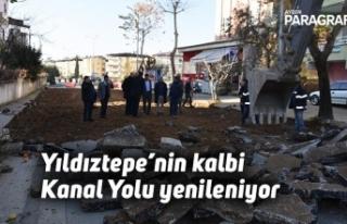 Yıldıztepe'nin kalbi Kanal Yolu yenileniyor