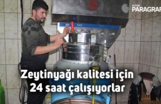 Zeytinyağı kalitesi için 24 saat çalışıyorlar