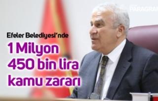 1 Milyon 450 bin lira kamu zararı