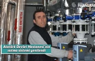 Atatürk Devlet Hastanesi'nin ısıtma sistemi yenilendi