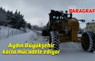 Aydın Büyükşehir karla mücadele ediyor