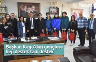 Başkan Kaya'dan gençlere hep destek tam destek