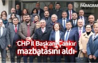 CHP İl Başkanı Çankır mazbatasını aldı