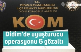 Didim'de uyuşturucu operasyonu 6 gözaltı