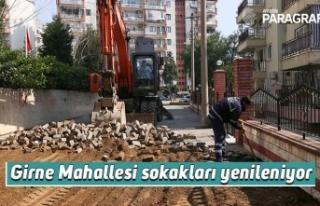 Girne Mahallesi sokakları yenileniyor