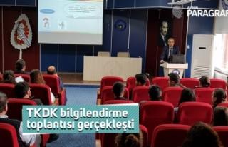 TKDK bilgilendirme toplantısı gerçekleşti