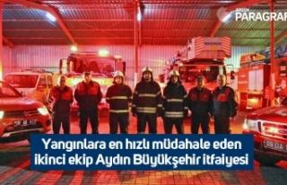 Yangınlara en hızlı müdahale eden ikinci ekip...