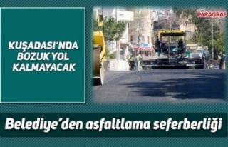 Belediye'den asfaltlama seferberliği