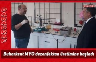 Buharkent MYO dezenfektan üretimine başladı