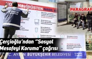 """Çerçioğlu'ndan """"Sosyal Mesafeyi Koruma"""" çağrısı"""