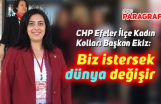 CHP Efeler Kadın Kolları Başkanı Ekiz: Biz istersek...