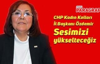 CHP Kadın Kolları İl Başkanı Özdemir: Sesimizi...