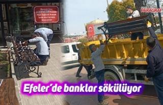 Efeler'de banklar sökülüyor