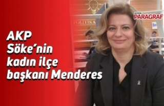 AKP Söke'nin kadın ilçe başkanı Menderes