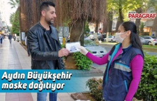 Aydın Büyükşehir maske dağıtıyor