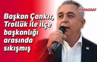 Başkan Çankır, Trollük ile ilçe başkanlığı...