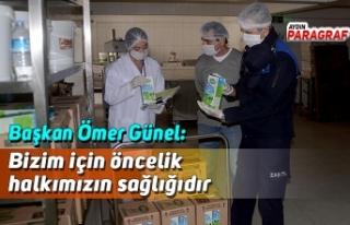 Başkan Ömer Günel: Bizim için öncelik halkımızın...